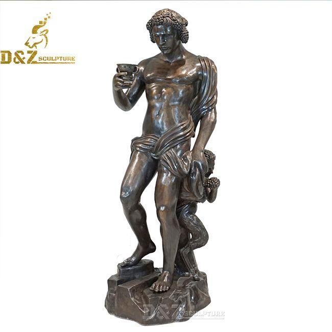 bacchus garden statue
